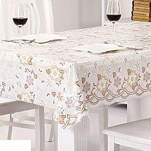 Wasserdicht,spitzen tischdecke/Öl-beweis,einweg-tischdecken/tee tischdecke/kunststoff,stoffe,pvc tischdecke/weichglas matte für tabelle-J 132x70cm(52x28inch)