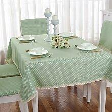 Wasserdicht Tischdecken Für Den Teetisch,Frisch Und Pastorale Stoff Tischdecke,Tischdecke Stuhl Kissenbezug Set-A 150x150cm(59x59inch)