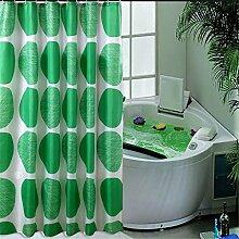 Wasserdicht und Mehltau Grün Duschvorhang Verdickung Polyester Badezimmer Trennwand Vorhang ( größe : 180*180cm )