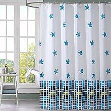 Wasserdicht verdickte Polyester Duschvorhang Badezimmer Badezimmer Trennvorhang ( größe : 220*200cm )
