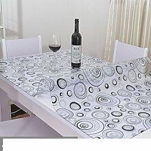 Wasserdicht,Weichglas,Pvc,Einweg-tischdecke/Plastiktisch Mat/Couchtisch Mit Tischtuch-D 80x130cm(31x51inch)