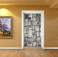 Wasserdichte 3D Nachahmung Grau Stein Tür