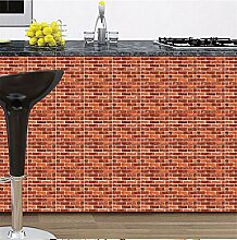 Wasserdichte 3D Wandpaneele Ziegelstein PVC