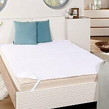 Wasserdichte & Atmungsaktive Matratzen-Auflage Molton Matratzenschoner für Betten Matratzenschutz aus 100% Baumwolle Wasserundurchlässige Betteinlage, Größe:180 x 200 cm