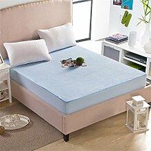 Wasserdichte atmungsaktive weiße Matratzenschutz-Abdeckung Unterschiedliche Größen ( Farbe : Blau , größe : 180*220cm )