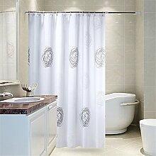 Wasserdichte Badezimmer Duschvorhang Mehltau Duschvorhang Tuch Trennwand Vorhang Elegantes Badezimmer ( größe : 200*180cm )