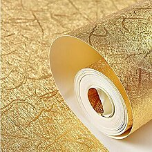 Wasserdichte Brushed Gold Tapete - Gold Tapete - Platinum KTV Wohnzimmer TV Hintergrund , 80171