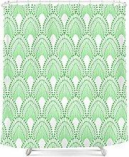 Wasserdichte Schimmelverdickung Polyester Badvorhang Persönlichkeit kreativer Badvorhang mit Haken ( Farbe : S , größe : 180*180cm )
