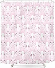 Wasserdichte Schimmelverdickung Polyester Badvorhang Persönlichkeit kreativer Badvorhang mit Haken ( Farbe : D , größe : 200*180cm )