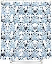 Wasserdichte Schimmelverdickung Polyester Badvorhang Persönlichkeit kreativer Badvorhang mit Haken ( Farbe : A , größe : 200*180cm )