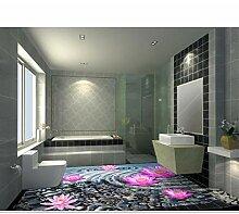 Wasserdichte Tapete-für-Badezimmer 3D-Bodenbelag