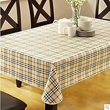 wasserdichte Tapete/PVCWeiche transparente Tischdecke/ Kunststoff Tischdecken/ Einweg-Couchtisch Kissen/Tischdecke decke/ hitzebeständige Tischdecke-G 152x152cm(60x60inch)