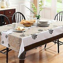 wasserdichte Tapete/PVCWeiche transparente Tischdecke/ Kunststoff Tischdecken/ Einweg-Couchtisch Kissen/Tischdecke decke/ hitzebeständige Tischdecke-N 106x152cm(42x60inch)