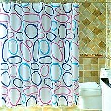 Wasserdichte und Mehltau Duschvorhänge Badezimmer Warm Isolierung Vorhänge Bad Schatten Vorhänge ( größe : 80*180cm )