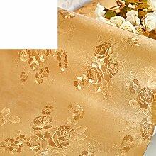 Wasserdichte und staubdicht tischtuch/pvc-tv-schrank tischtuch/kontinentaler tisch/bett tisch tuch/garten tischdecke-A 50x250cm(20x98inch)