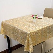 Wasserdichter Stoff Tabelle Taiwan Garten Tischdecke verfügbares Öl Tischdecke Tuch mahjong Tabelle, Golden-C, 133 * 133 cm