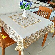 Wasserdichter Stoff Tabelle Taiwan Garten Tischdecke verfügbares Öl Tischdecke Tuch mahjong Tabelle, goldenen, 133 * 133 cm