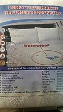 Wasserdichter Terry-Matratzenschoner - extra tief - waschbar - Anti-Allergie | antibakteriell | Anti-Staub/Milben, Frottee, imprägniert, King Size