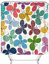 Wasserdichter Vorhang, Verdickung, Anti Schimmel, Vorhang, Bad, Vorhang, Polyester Vorhang, Mit Haken ( Farbe : A , größe : 180*180cm )