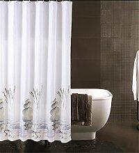 Wasserdichtes dickes Badezimmer Polyester Duschvorhang Badezimmer Trennvorhang ( größe : 120*200cm )