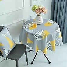 WasserdichtNordic-Art-Rund Lange Tischdecke