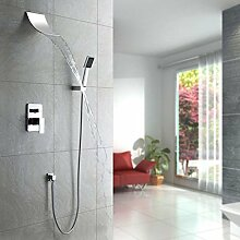 Wasserfall Dusche Armatur mit Handbrause chrom
