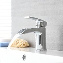 Wasserfall Einhebelmischer für Waschbecken Modern