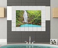 Wasserfall Fliesenaufkleber 15 10 25 20 cm