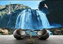 Wasserfall Große Wandbild Tapete Tv Sofa Hintergrund Schlafzimmer Wohnzimmer Landschaft 3D Wallpaper 400 Cm x 300 Cm