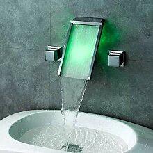 Wasserfall Heißes Neues Waschbecken Kaltes Und