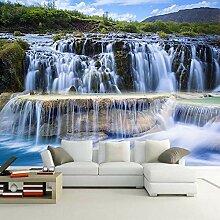 Wasserfall Landschaft 3D Foto Tapete für Küche