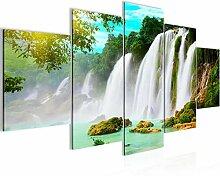 Wasserfall Landschaft Bild Vlies Leinwandbild 5