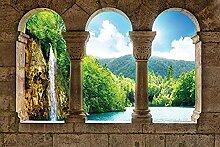 Wasserfall Säulen Fototapete anzeigen Fototapete