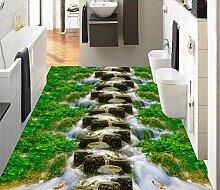 Wasserfall Stone Pier Bodenbelag Tapete Wohnzimmer