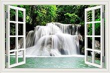 """Wasserfall Wald Natur Landschaft 3D Wandtattoo Home Decor Wandsticker Vinyl Tapete, W0814, 20""""""""X28"""