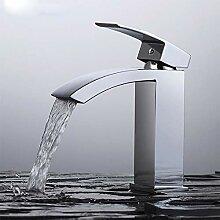 Wasserfall-Wasserhahn für Waschbecken, Einhebel,