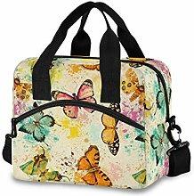 Wasserfarben-Schmetterling-Lunch-Tasche mit