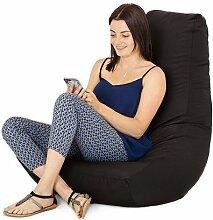 Wasserfest Außenbereich Gaming Sitzsack Lounger Sessel, in 7 farben erhältlich - Schwarz