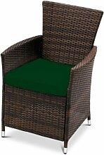 Wasserfest Ersatz Sitzkissen für Außen Garten Stuhl Terrasse Möbel, Erhältlich in 11 Farben - Grün, 6 Packungen