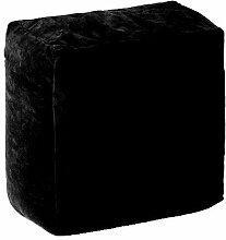 Wasserfest Innen Außen Tetris Geformt Gefüllt Sitzsack Kissen, erhältlich in 8 Farben - Schwarz, Quadra
