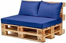 Wasserfest Palette Möbel Sitz & Zurück Kissen, Erhältlich in 10 Farben - Blau, Back Cushion