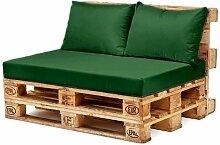 Wasserfest Palette Möbel Sitz & Zurück Kissen, Erhältlich in 10 Farben - Grün, Back Cushion