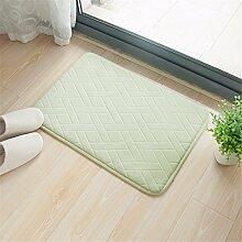 Wasserfeste Matte qianmo-carpet Bad WC WC Pad Tür Pad Schlafzimmer Teppich Küche Pad Grün, 45 * 65 Cm