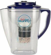 Wasserfilter AcalaQuell Sunny | Dunkelblau | Kannenfilter mit extra gutem Griff | Höchste Filterleistung | Mehrschichtige Filterkartusche | PI-Technology | Kreiert köstlich schmeckendes Wasser