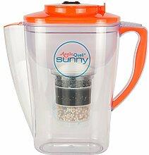 Wasserfilter AcalaQuell Sunny | Orange | Kannenfilter mit extra gutem Griff | Höchste Filterleistung | Mehrschichtige Filterkartusche | PI-Technology |Kreiert köstlich schmeckendes, wohltuendes Wasser