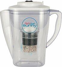 Wasserfilter AcalaQuell Sunny | Weiss | Kannenfilter mit extra gutem Griff | Höchste Filterleistung | Mehrschichtige Filterkartusche | PI-Technology | Kreiert köstlich schmeckendes, wohltuendes Wasser