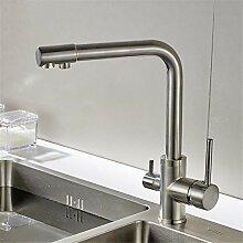 Wasserfilter Küchenarmatur aus gebürstetem