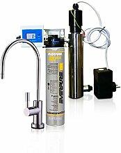 Wasserfilter System ForHome® EasyPure für die küche Mikrofiltrations Wasser Ultrafilter Anlage unter der Spüle Wasseraufbereiter mit UV-Lampe Wasserfilter Untertisch Everpure 4K