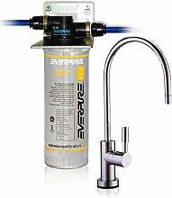 Wasserfilter System ForHome® EasyPure für die küche Mikrofiltrations Wasser Ultrafilter Anlage unter der Spüle Wasseraufbereiter Wasserfilter Untertisch Everpure 2K