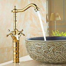 Wasserhahn,2 Arten Gold Becken Wasserhahn